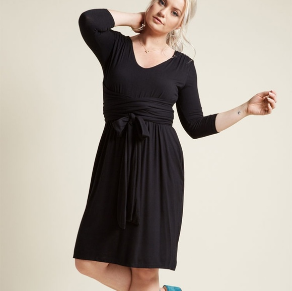 Modcloth Dresses & Skirts - Modcloth Jersey Knit Dress with Wrapping Ties S